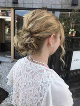 wedding hair arrange